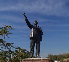 Lenin Salutes - Memento Park, Budapest, Hungary by waynebolton