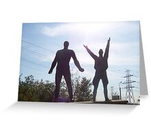 Workers Strength statute - Memento Park, Budapest Greeting Card