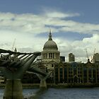 London Millennium Bridge by Dimitris Koutroumpas