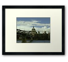 London Millennium Bridge Framed Print
