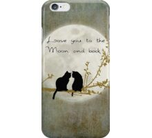Love you to the moon and back (rectangle) iPhone Case/Skin