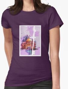 Flinders Street Station, Melbourne Womens Fitted T-Shirt