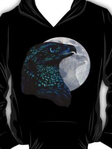Black Eagle and Moon T-Shirt