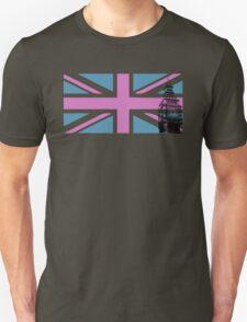Union Jack and Big Ben, London, UK, Pink and Purple T-Shirt