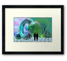 Reflecting worlds Framed Print