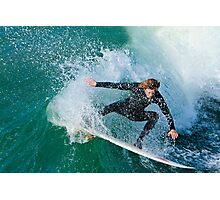 Surfing in Carlsbad California Photographic Print