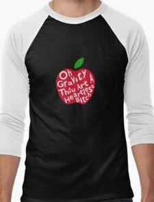 Gravity is Heartless Men's Baseball ¾ T-Shirt