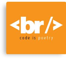 code is poetry Canvas Print