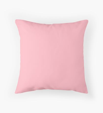 Plain Light Pink 0ver 500 plain colours cheapest on RB Throw Pillow