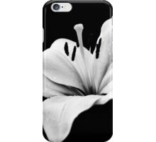 White lily - monochrome iPhone Case/Skin