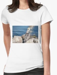 Pelican In The Sun Womens Fitted T-Shirt