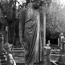 Old Grave Statue by Michael  Addison