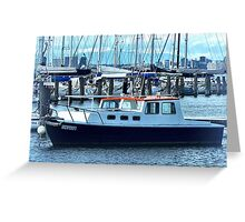 Red Roof - Cabin Cruiser moored at Williamstown, Vic. Greeting Card
