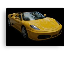 Yellow Ferrari Sports Car Canvas Print
