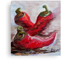 Poppin' Peppers Canvas Print