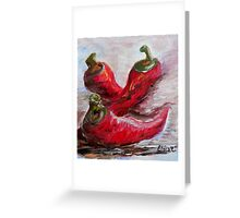 Poppin' Peppers Greeting Card