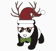 Hipster Christmas Panda by GBCdesign