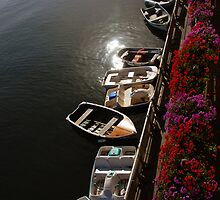 Boats & Early Morning Sun by tom j deters