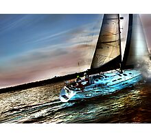 Boat Water Sky Photographic Print