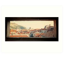 Dubrovnik window Art Print