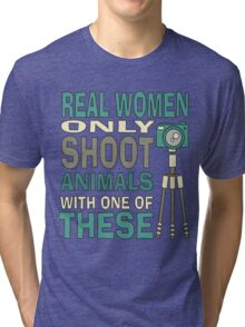 Real Women Only shoot with Cameras Tri-blend T-Shirt