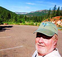 Self Portait, Battleship Rock, Jemez Mts New Mexico by F.  Kevin  Wynkoop