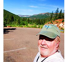 Self Portait, Battleship Rock, Jemez Mts New Mexico Photographic Print