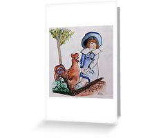 Rooster Breath Greeting Card