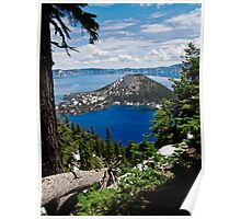 Crater Lake National Park - Wizard Island Poster