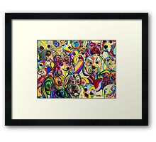 Dogs, Dogs, DOGS! Framed Print