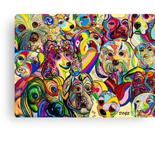 Dogs, Dogs, DOGS! Canvas Print