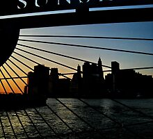sunset, big apple style. new york by tim buckley | bodhiimages