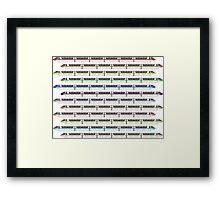Monorail Fleet Framed Print