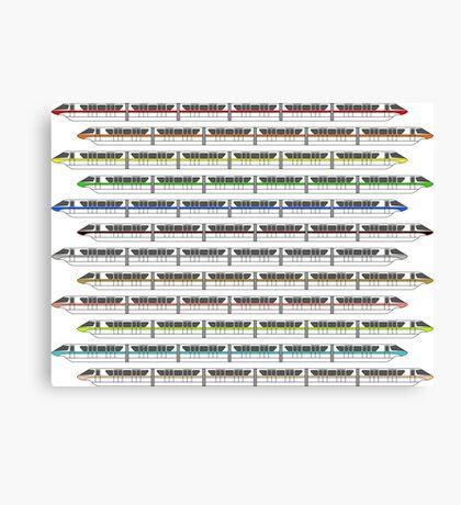 Monorail Fleet Canvas Print