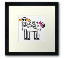 Pickles the Cow Framed Print