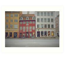 Copenhagen buildings Art Print