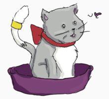 kitty in a basket by redpixel