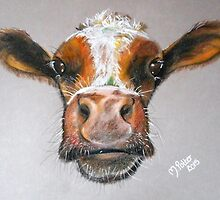 Up Close and Personal - Calf by Michelle Potter