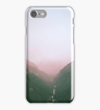 Fog in the Yosemite Park iPhone Case/Skin
