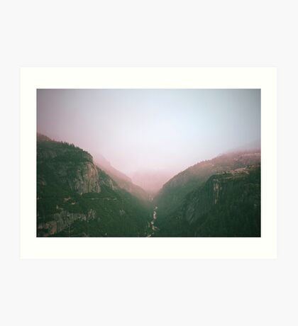 Fog in the Yosemite Park Art Print