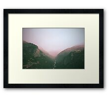 Fog in the Yosemite Park Framed Print