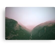 Fog in the Yosemite Park Canvas Print
