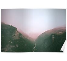 Fog in the Yosemite Park Poster