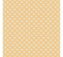 Peach and White Geometric Squares Photographic Print