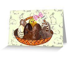 Chocolate Easter egg Card ( 2615  Views) Greeting Card