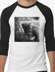 ©DA Shark IA Monochromatic Men's Baseball ¾ T-Shirt