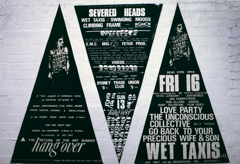 Three big triad posters for The Return of the Art Bunker Hangover  by ArtUnit