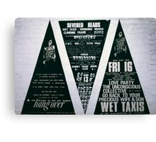 Three big triad posters for The Return of the Art Bunker Hangover  Canvas Print