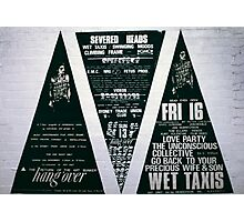 Three big triad posters for The Return of the Art Bunker Hangover  Photographic Print