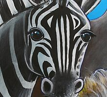 Zebra - 'Jungle Animals'  by Selinah Bull